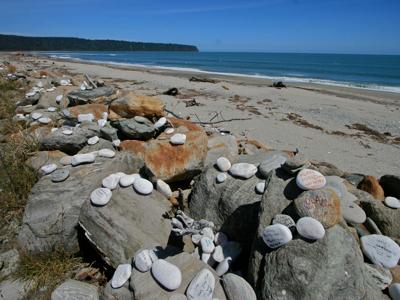 Beschriftete Steine